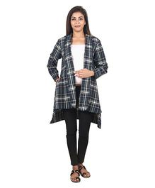 9teenAGAIN Women Maternity Plaid Woolen Shrug  - Multicolor