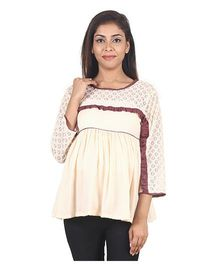 9teenAGAIN Women Maternity Top  - Peach
