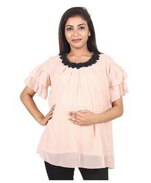 9teenAGAIN Women's Maternity Top  - Blush Pink