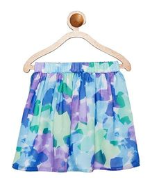 Campana Vibrant Skirt With Inner Lining - Blue