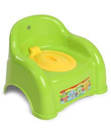 Ratnas Potty Chair With Lid - Green Yellow