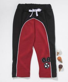 GJ Baby Full Length Lounge Pant With Drawstring - Red Black