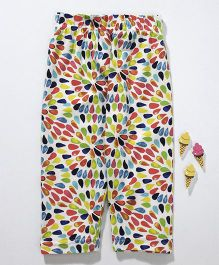 Fido Three Fourth Leggings Printed - Multi Color