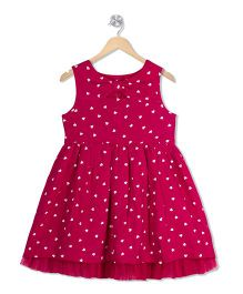 Young Birds Front Tie Band Dress - Pink