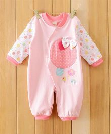 Dazzling Dolls Long Sleeve Soft Winter Romper - Pink