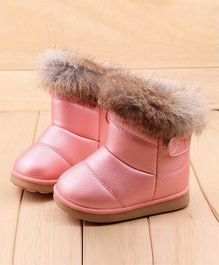 Wonderland Boots With Fur - Pink