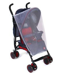 Baby Lightweight Stroller With Mosquito Net - Blue & Black