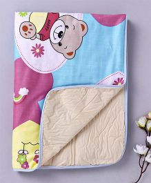 Diaper Changing Baby Mat Teddy Bear Print - Blue