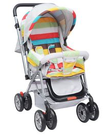 R for Rabbit Lollipop Lite Stroller Cum Pram - Grey Multicolour