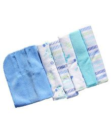 Owen Cotton Knit Wash Cloths Pack of 6 - Blue