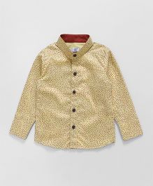 Knotty Kids Classic Full Sleeves Shirt - Beige