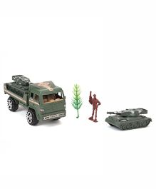 Grv Army Truck With Tank - Olive Green