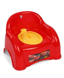 Ratnas Potty Chair With Lid Sports Car Print - Red
