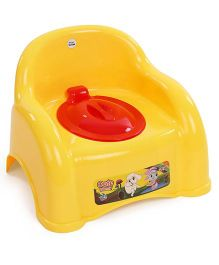 Ratnas Potty Chair With Lid - Yellow Red