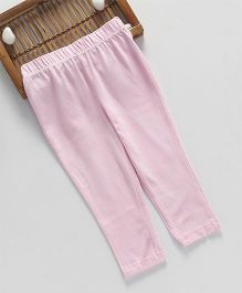 ToffyHouse Full Length Leggings Solid Color - Light Pink