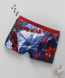 Marvel Swimming Trunks Spider Man Print - Blue Red