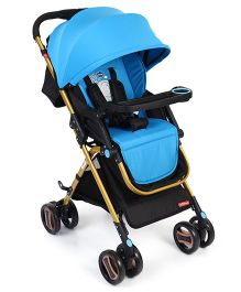 Baby Stroller With Canopy - Blue Black