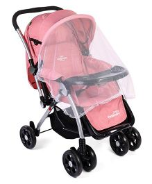 Baby Stroller With Mosquito Net - Peach