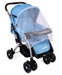 Baby Stroller With Mosquito Net - Blue