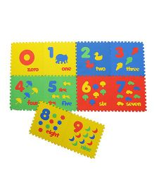 NHR Puzzle Play Mat With Pop Out Number Characters Pack of 10 - Multi Colour