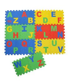 NHR Puzzle Mat With Pop Out A to Z Alphabet Pack of 14 - Multi Colour