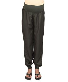 Kriti Maternity Full Length Twill Joggers - Olive Green