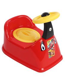 Ratnas Potty Chair With Steering Wheel - Red Yellow