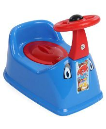 Ratnas Potty Chair With Steering Wheel - Blue Red