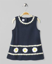 ToffyHouse Sleeveless Frock Floral Patch - Navy