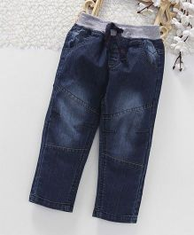 Toffy House Full Length Jeans With Drawstring - Navy