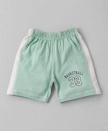 Ollypop Shorts Basketball Print - Light Green