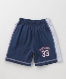 Ollypop Shorts Basketball Print - Navy Blue