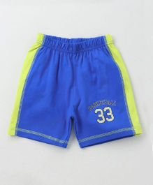 Ollypop Shorts Basketball Print - Royal Blue