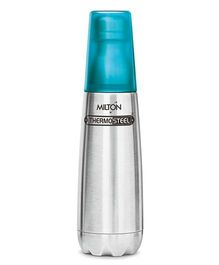 Milton Thermosteel Bottle With Tumbler Glass Silver Blue - 750 ml
