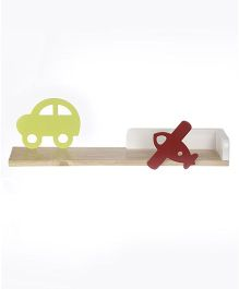 Fly Frog Wall Shelf With Transport Cutout - Green Red