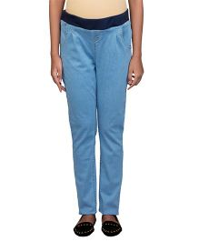Kriti Full Length Maternity Jeans - Light Blue