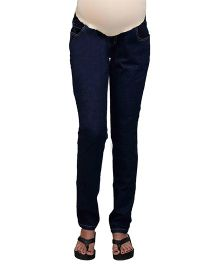 Kriti Full Length Maternity Denim Jeans - Dark Blue