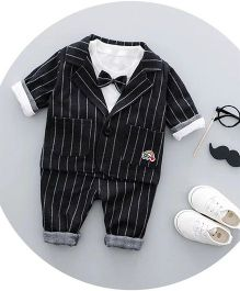 Pre Order - Wonderland Striped 3 Piece Party Set - Black