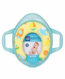 Mee Mee Cushioned Potty Seat With Support Handles - Aqua Blue