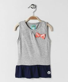 SoLittle- Bow Frock - Grey & Navy