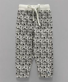 SoLittle- Owl Allover Printed Pant - White