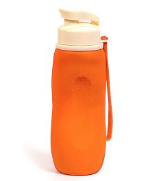 Baby Oodles Collapsible Silicon Sipper Water Bottles Orange - 750 ml