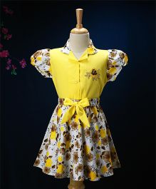 Enfance Core Floral Print Skirt & Top Set - Yellow