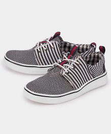 JUMP USA Knitted Sneakers - Black & White