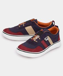 JUMP USA Smart Suede Sneakers - Red & Blue