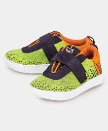 JUMP USA Abstract Design Sneakers - Orange & Green