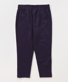 ToffyHouse Full Length Leggings Solid Colour - Dark Purple