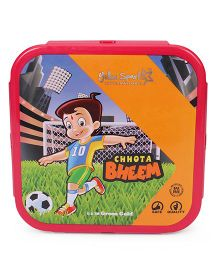 Chhota Bheem Lunch Box With Spoon Fork & Small Box - Yellow Pink