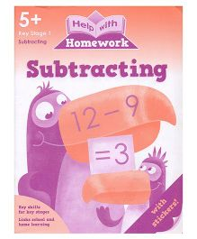 Subtracting Help With Homework - English
