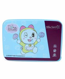 Doraemon Lunch Box With Spoon Fork & Small Box - Blue Purple